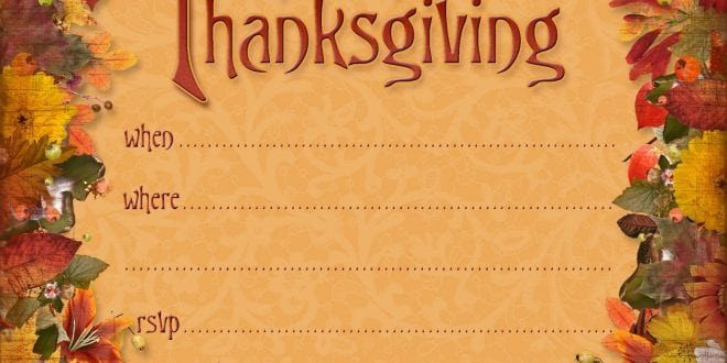Thanksgiving Invitation Templates Free Word Thanksgiving Invitation Templates Printable
