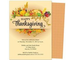 Thanksgiving Invitation Templates Free Word Thanksgiving Party Invitations Templates On Pinterest