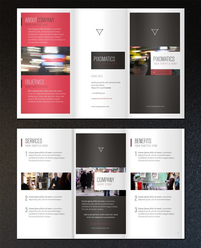 Three Fold Brochure Template 18 Best Free & Premium Brochure Templates