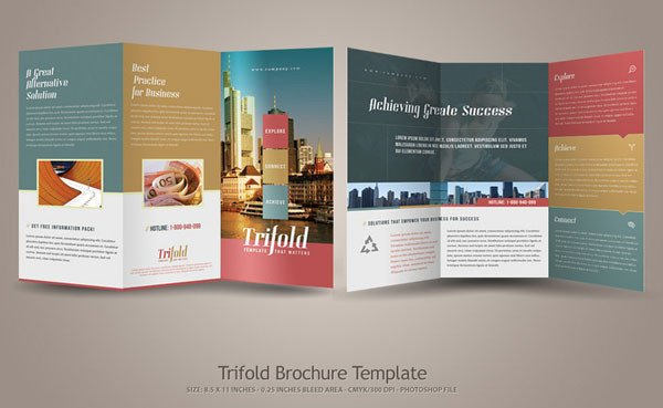 Three Fold Brochure Template 20 Simple yet Beautiful Brochure Design Inspiration