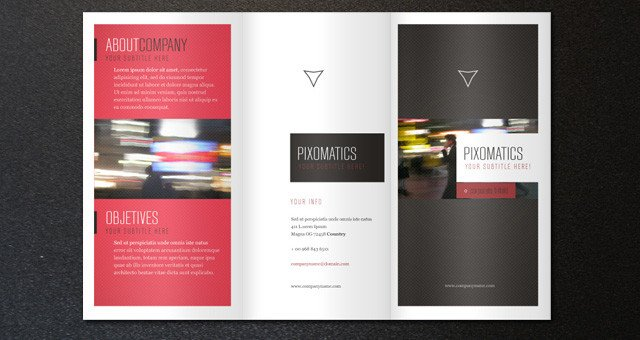 Three Fold Brochure Template Corporate Tri Fold Brochure Template 2