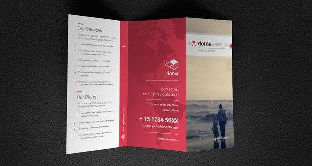 Three Fold Brochure Template Doma Tri Fold Brochure Template Brochure Templates