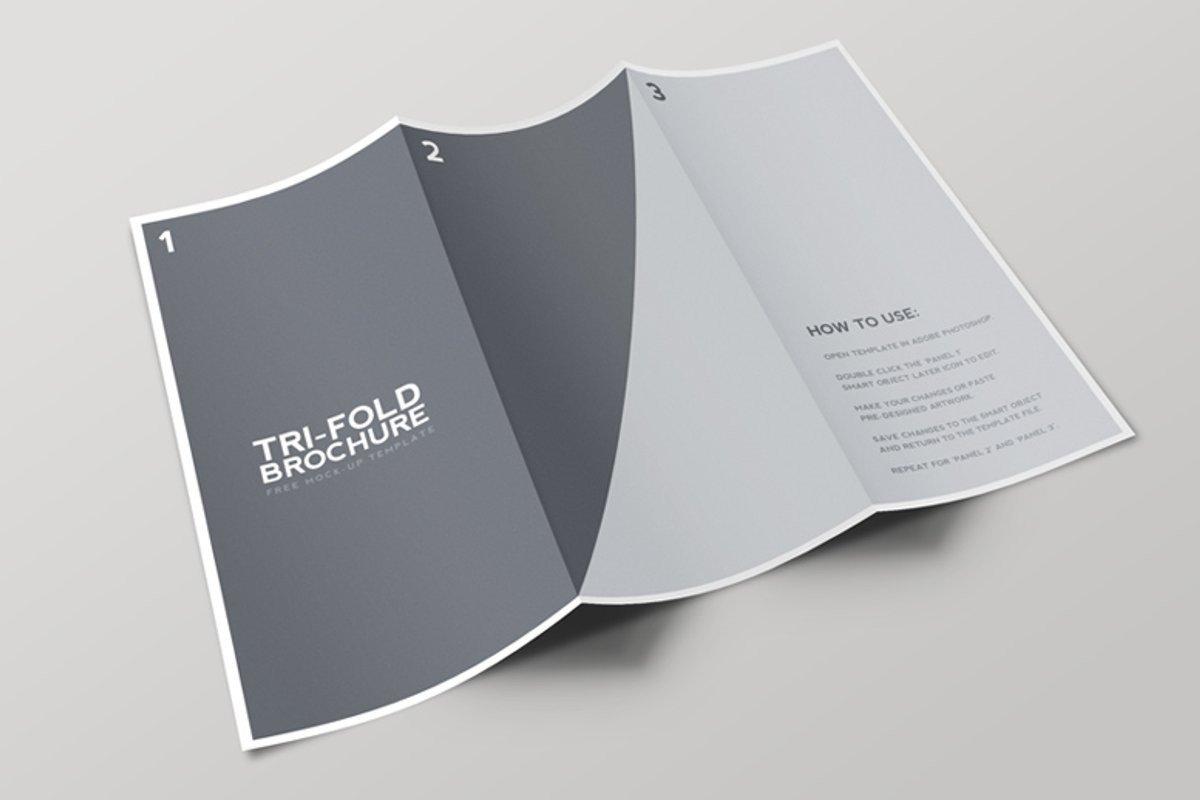 Three Fold Brochure Template Tri Fold Brochure Mockup Template — Medialoot