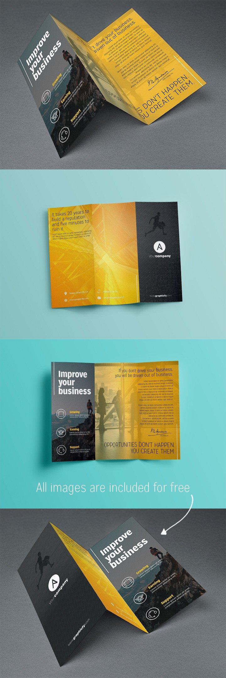 Three Fold Brochure Template Tri Fold Brochure Template Psd Brochure Templates