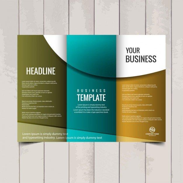 Three Fold Brochure Template Tri Fold Brochure Template Vector