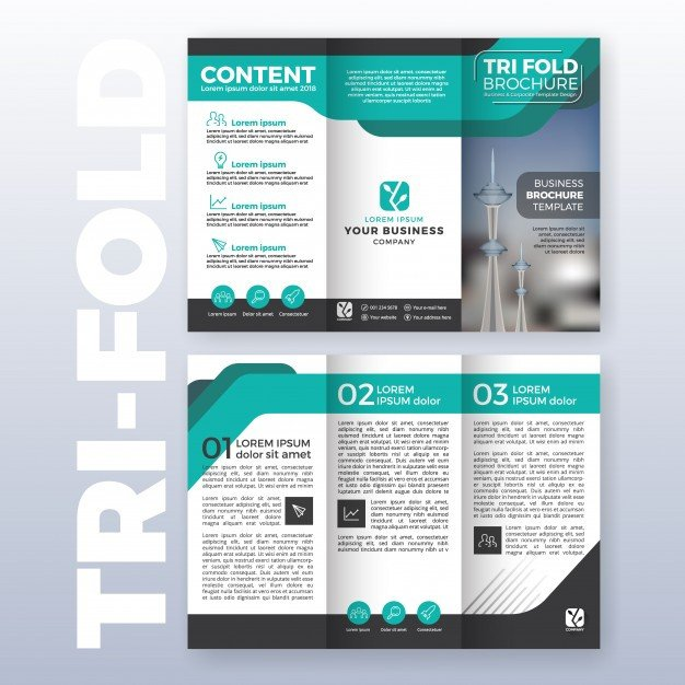 Three Fold Brochure Template Trifold Brochure Vectors S and Psd Files