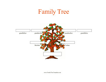 Three Generation Family Tree 3 Generation Family Tree In Color Template