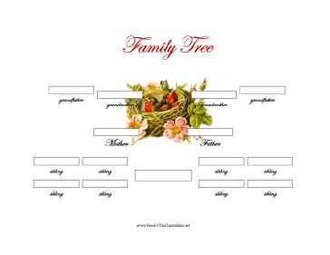 Three Generation Family Tree 3 Generation Family Tree with Siblings Template