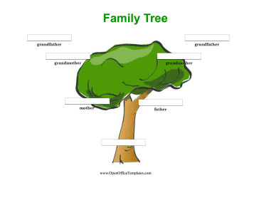Three Generation Family Tree Colorful 3 Generation Family Tree Open Fice Template
