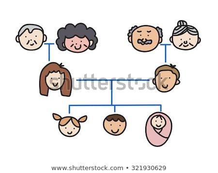 Three Generation Family Tree Family Tree Chart Stock Royalty Free