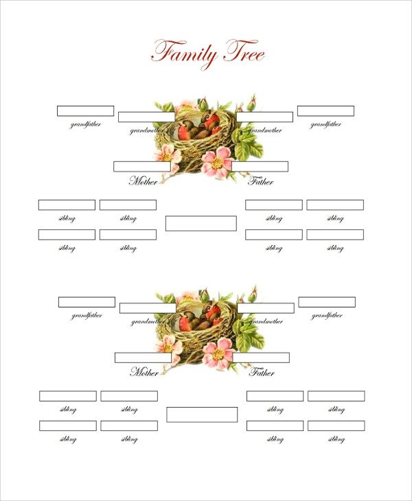 Three Generation Family Tree Sample Family Tree Chart Template 17 Documents In Pdf