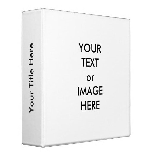 "Three Ring Binder Spine Template Create Your Own 2"" Binder Template White"