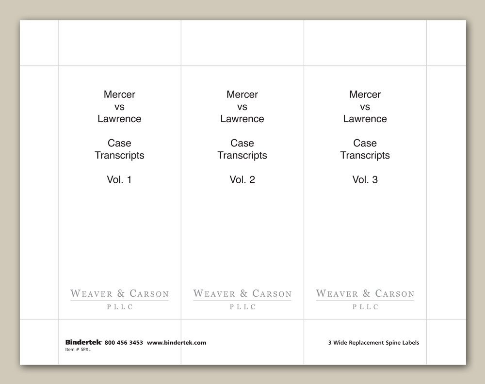 "Three Ring Binder Spine Template Insertable Spine Labels for 4"" Wide Binders"