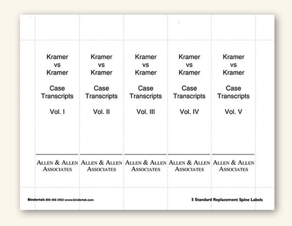 """Three Ring Binder Spine Template Insertable Spine Labels for Standard 3"""" Binders"""