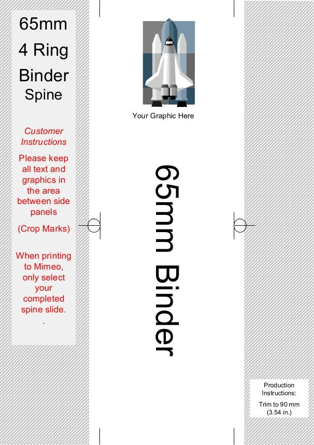 Three Ring Binder Spine Template Spine Templates for Your 4 Ring Binders