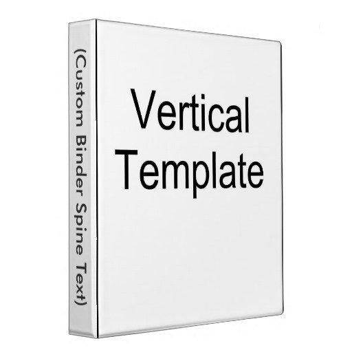 Three Ring Binder Spine Template Vertical Template 3 Ring Binders