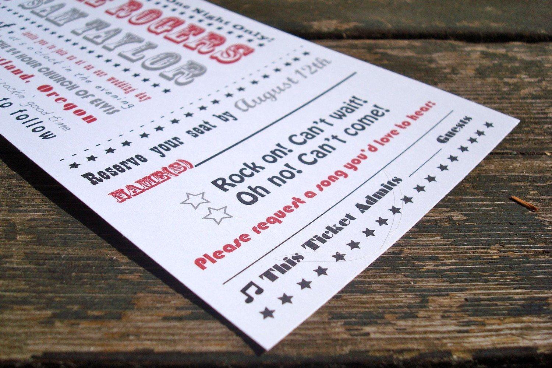 Ticket Invitation Template Free Concert Ticket Wedding Invitation Sample Pack Free