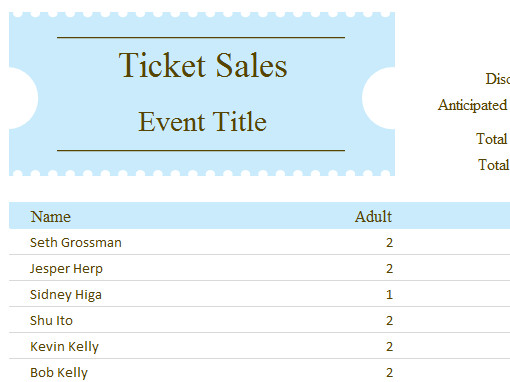 Ticket order form Template Word Planners and Trackers Fice