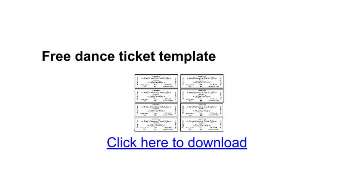Ticket Template Google Docs Free Dance Ticket Template Google Docs