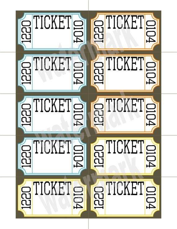 Ticket Template Google Docs Ticket Raffle Templates On Google Google Search