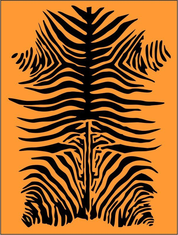 Tiger Stripe Stencil Printable Tiger Stripe Pattern