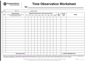 Time and Motion Study Template Value for the Time and Motion Study Template Excel with
