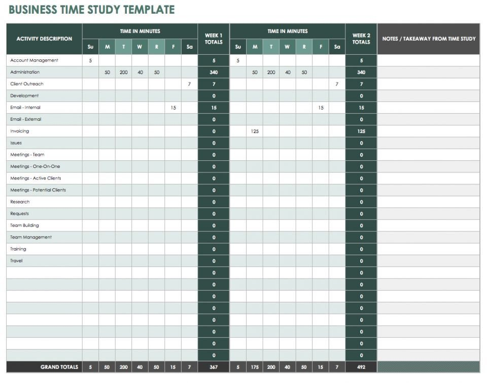 Time Study Templates Excel 28 Free Time Management Worksheets