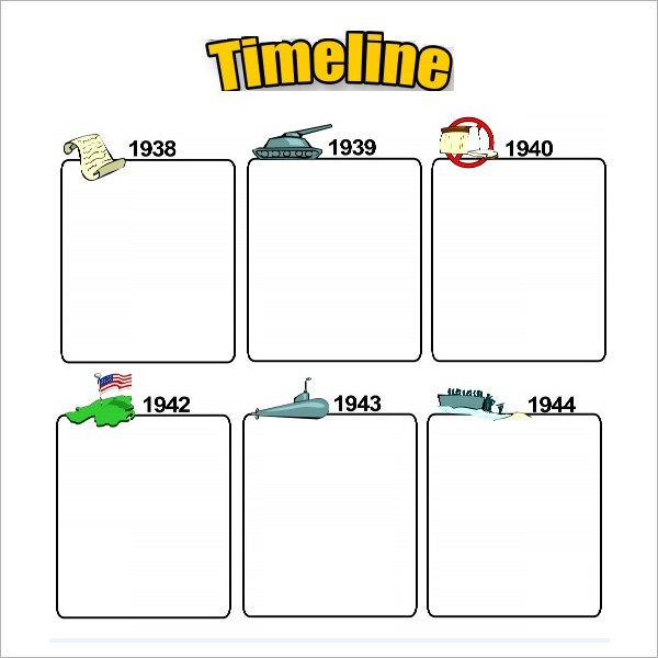 Timeline Template for Kids Blank Timeline Template 6 Free Download for Pdf