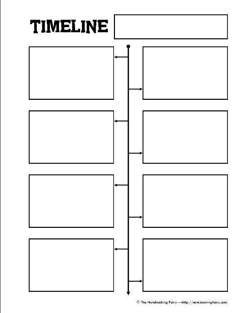 Timeline Template for Kids Free Printable Timeline Notebooking Page From