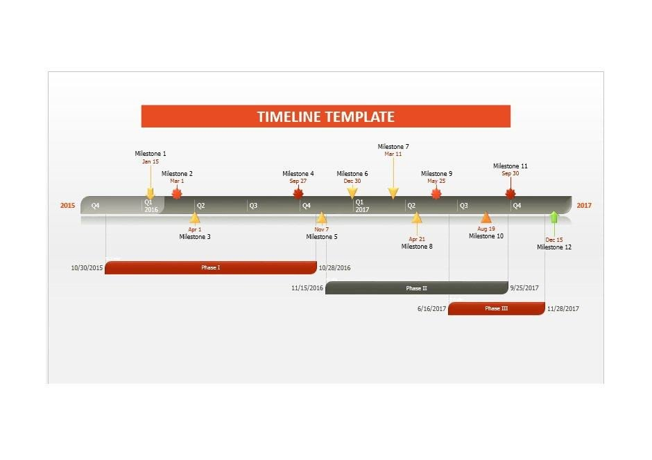 Timeline Template for Word 33 Free Timeline Templates Excel Power Point Word