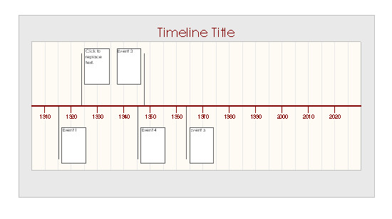 Timeline Template for Word Timeline