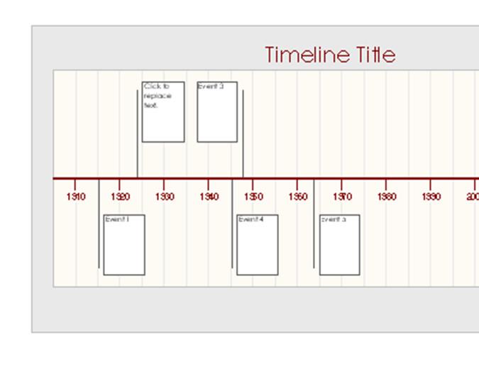 Timeline Template for Word Timelines Fice