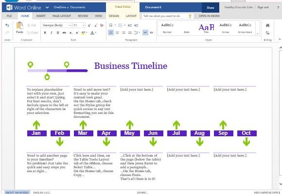 Timeline Template Microsoft Word Business Project Timeline Template for Word Line