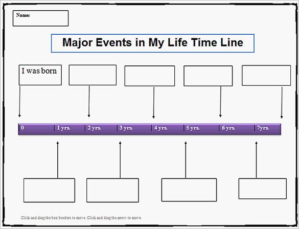 Timeline Templates for Kids 18 Personal Timeline Templates Doc Pdf