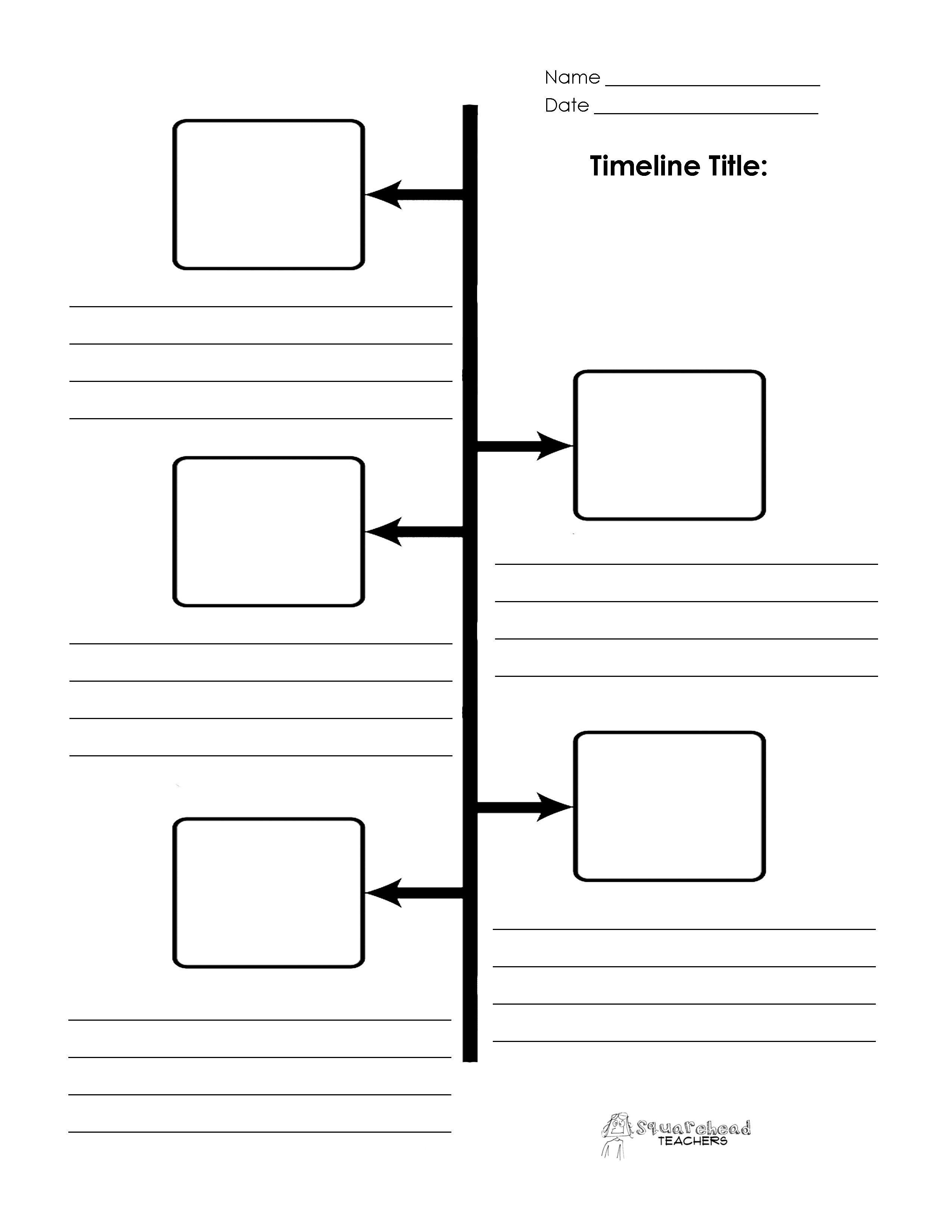 Timeline Templates for Kids Blank Timeline Printables