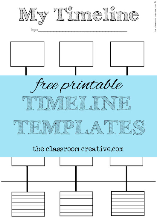 Timeline Templates for Kids Free Printable Timeline Templates theclassroomcreative