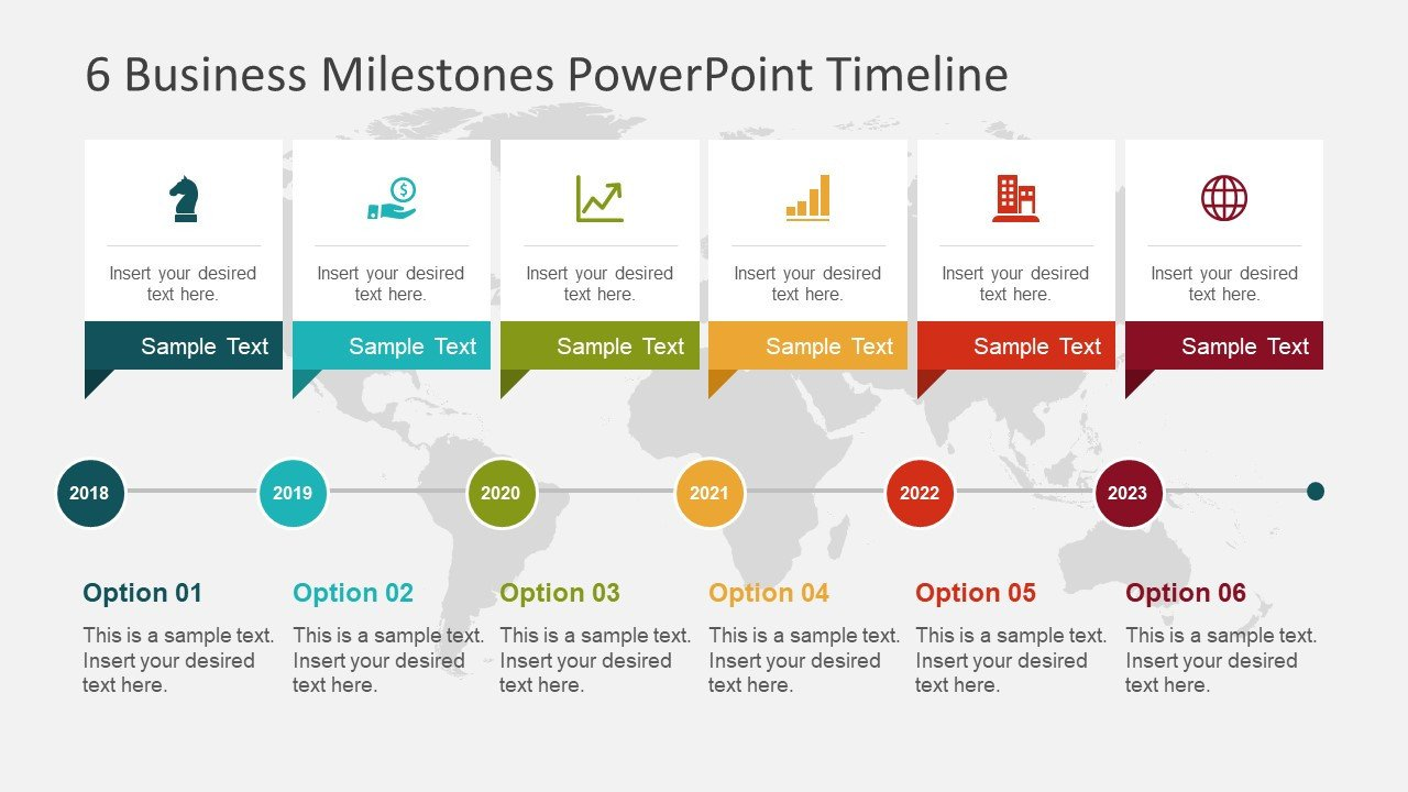 Timeline Templates for Powerpoint 6 Business Milestones Powerpoint Timeline Slidemodel