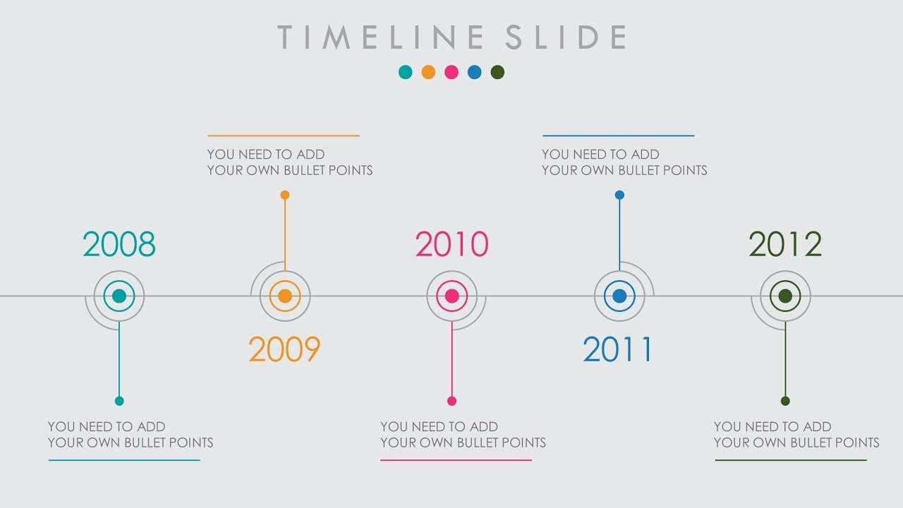 Timeline Templates for Powerpoint Animated Powerpoint Timeline Slide Design Tutorial