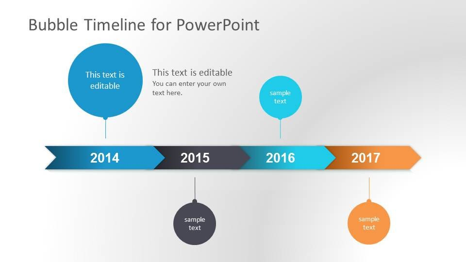 Timeline Templates for Powerpoint Bubble Timeline Powerpoint Template Slidemodel
