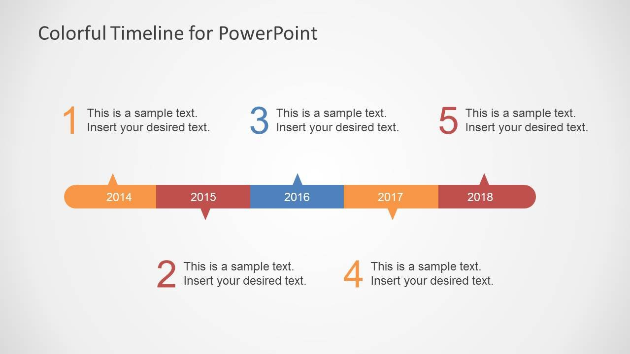 Timeline Templates for Powerpoint Colorful Timeline Template for Powerpoint Slidemodel