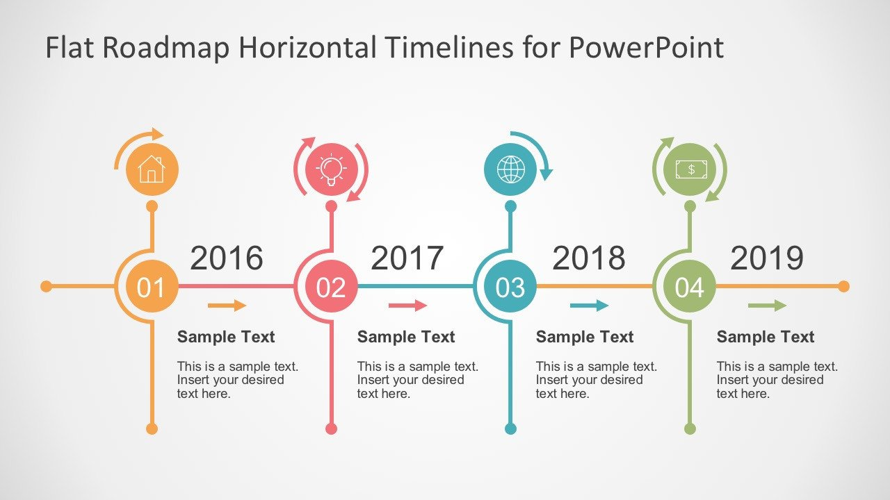 Timeline Templates for Powerpoint Flat Timelines Powerpoint Templates