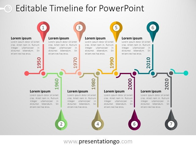 Timeline Templates for Powerpoint Free Timelines Powerpoint Templates Presentationgo
