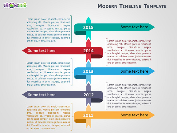 Timeline Templates for Powerpoint Modern Timeline Template for Powerpoint