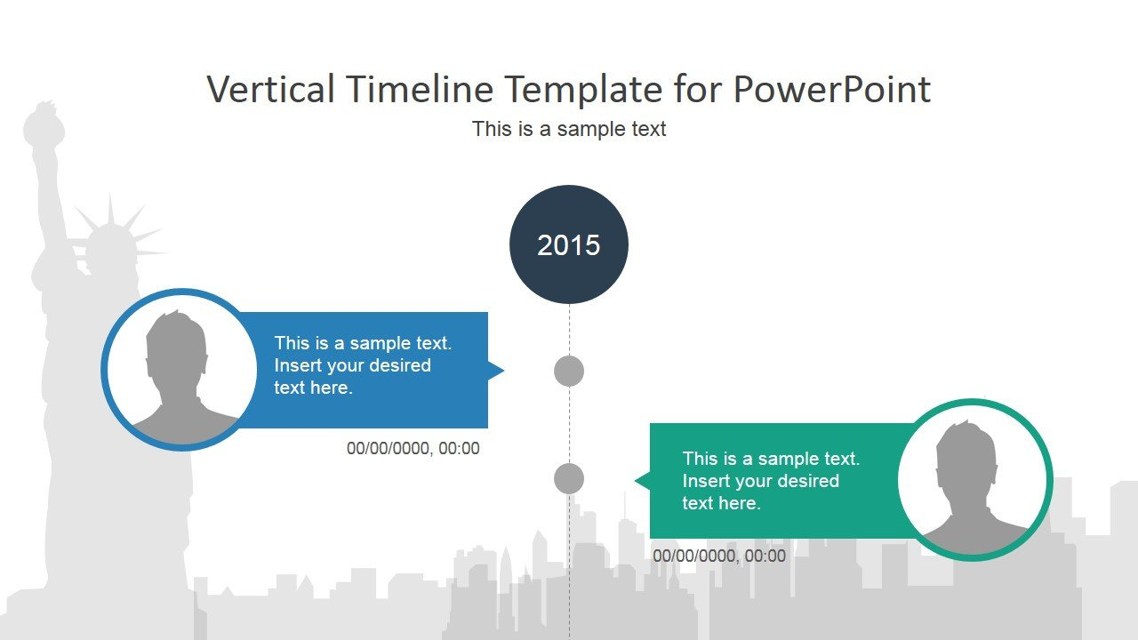 Timeline Templates for Powerpoint Vertical Timeline Powerpoint Template Slidemodel