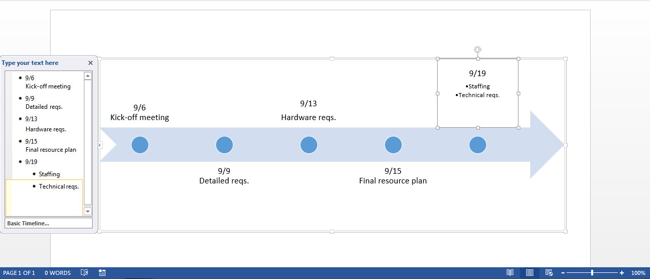 Timeline Templates for Word Free Timeline Template In Word