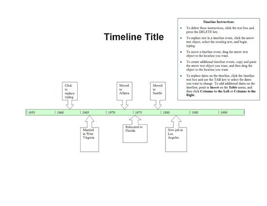 Timeline Templates for Word Timeline