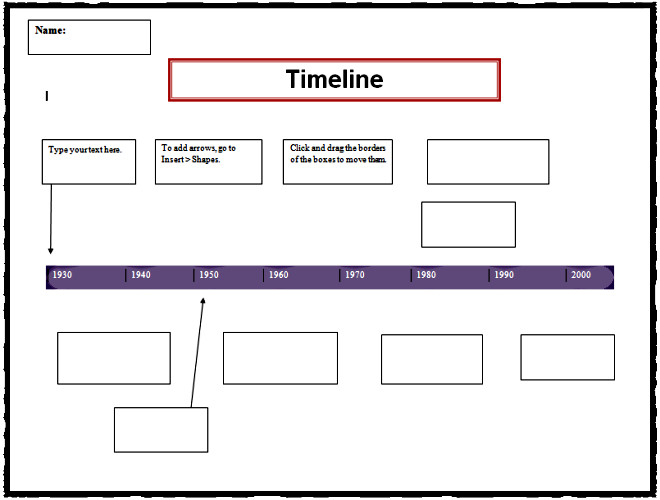 Timeline Templates for Word Timeline Template
