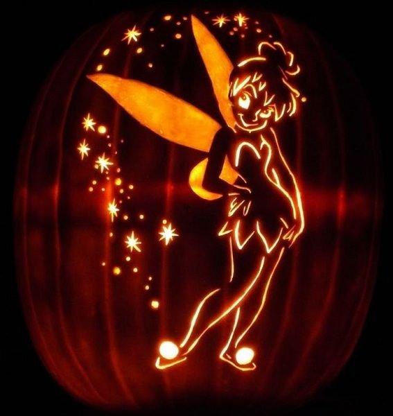 Tinkerbell Pumpkin Carving Patterns 23 Best Images About Tinkerbell Pumpkins On Pinterest