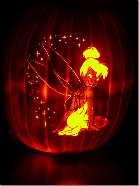 Tinkerbell Pumpkin Carving Patterns Magical Tinker Bell Pumpkin Carvings Between the Pages