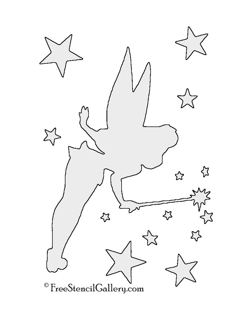 Tinkerbell Pumpkin Carving Patterns Tinkerbell 01 Stencil